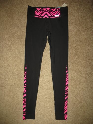 Pink Leggings Nwt Victoria's Aztec Nero Neon Xs Secret Yoga Ultimate Pants 77qwZ1