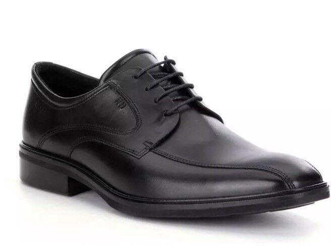 ECCO Illinois Bike Men's Black Leather Toe Tie Oxfords Sz 45 EUR 3160