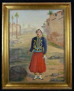 Edward-Creditor-XIX-xx-Scene-Orientalist-homme-in-Costume-Military