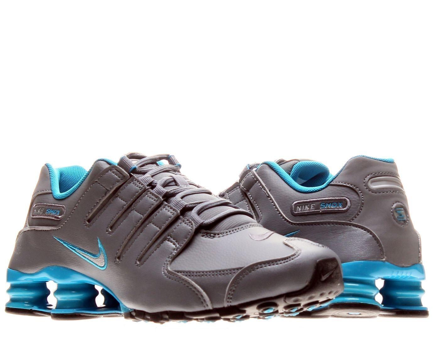 Nike Shox NZ Shoe Mens size 8 378341-004 Cool Grey/Mtllc Silver/Bl Lgn