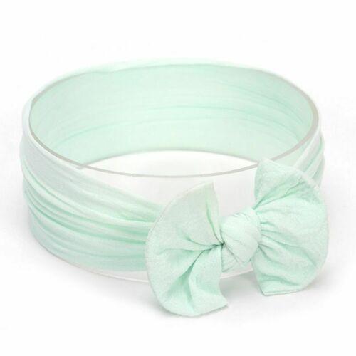 Baby Girls Wide Nylon Bow Head Wraps Headband Knot  One Size Fits Most 18 Colors