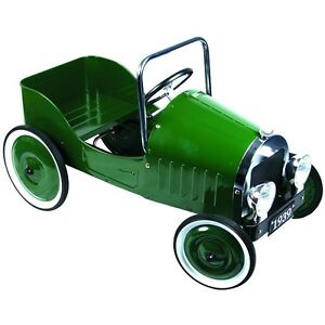 CHILDRENS-PEDAL-CAR-CLASSIC-STEEL-RETRO-VINTAGE-STYLE-METAL-RIDE-ON-TOY-Green