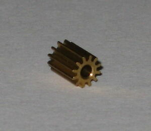 Brass-12-Tooth-Gear-for-1-5-mm-Shafts-12T-1-5mm-3-8-mm-OD-Pinion-Gear