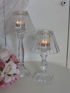 Kerzenleuchter 3er Set Glas Krömer Leuchter Windlicht Haube H24 31cm