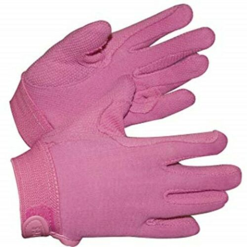 Pink Medium by Shires Adults Newbury Horse Riding Gloves