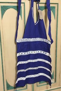 Details About Nwt Sur La Table Royal Blue Vintage Inspired Full Length Apron On Sale Till Fri