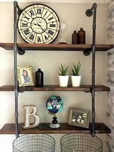 3 4 Quot Industrial Black Iron Pipe Shelf Shelving Lumber