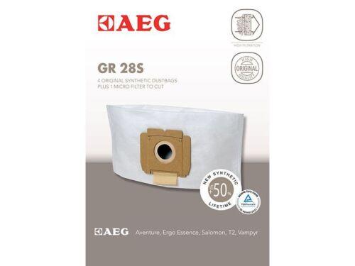 Original AEG GR 28 S Staubsaugerbeutel 4 Filtertüten 9002565423