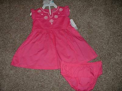Carter's Baby Girls Pink Summer Dress Set Size 3 6 Months 3M 6M NWT NEW 0-3 3-6