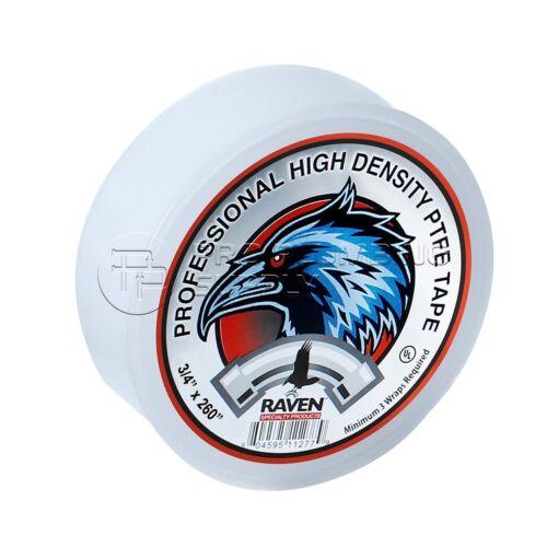 x 260 in. White 3//4 in Raven R1603 PTFE Thread Seal Tape Professional Grade