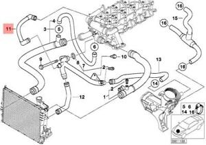 Details about Genuine BMW E39 E46 Estate Saloon Cooling System Water Hose  OEM 11532247725