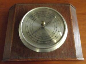Eiche Holz/metall 30er Jahre Qualifiziert Barometer