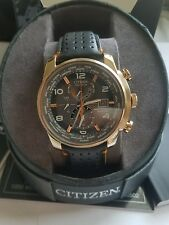 Citizen AT9013-03H World Time Eco-Drive Rose Gold Men's Watch $550 Lowest Price!