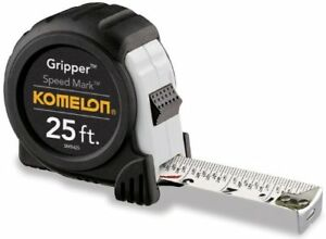 Komelon-SM5425-25-039-x-1-034-Gripper-Speed-Mark-Fractional-Graduation-Tape-Measure