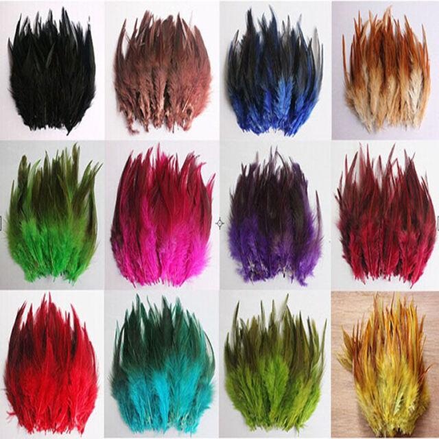 50-100pcs Beautiful Pheasant Neck dyeing Feathers 10-15cm/4-6''13 Color Choose