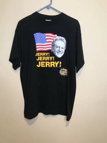 Vintage Jerry Springer Show Shirt SZ L Stanley Des