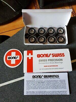 Bones Swiss Skateboard Bearings Set Of 8-Pack New