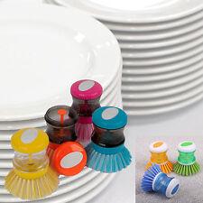 KITCHEN SINK SOAP DISPENSING DISH WASHER WASHING UP CLEANING SCRUBBING BRUSH PAD