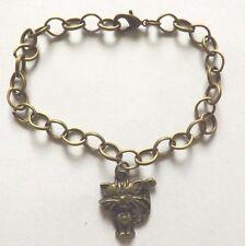 bracelet bronze 19,5 cm chat coeur