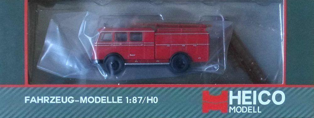 Modellauto H0 Heico (HC2002) (HC2002) (HC2002)  Feuerwehr Tanklöschfahrzeug Bachert LP311,  TLF16 e6040c