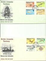 BRITISH ANTARCTIC TERRITORY 1984 15TH MARCH MARINE LIFE DEFINITIVES SET FDCS