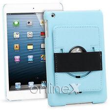Funda Piel para iPad 4, 10.1 Soporte Mano Rotatorio Azul a746