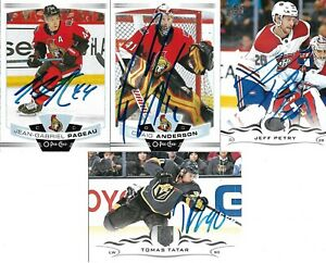 Tomas Tatar Signed 2018 19 Vegas Golden Knights Upper Deck Card New Ebay