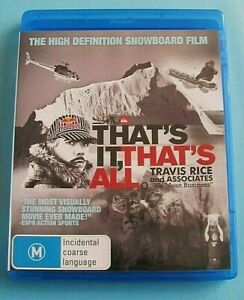 THAT-039-S-IT-THAT-039-S-ALL-BLU-RAY-Travis-Rice-Snowboard