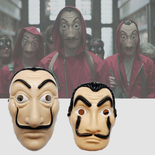 Halloween Face Mask Costume Face Mask Money Heist The House of Cards 2Type
