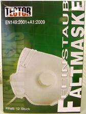 FFP3 Schutzmaske mit Ventil, einzeln verpackt - 12 St. Feinstaubmaske Halbmaske