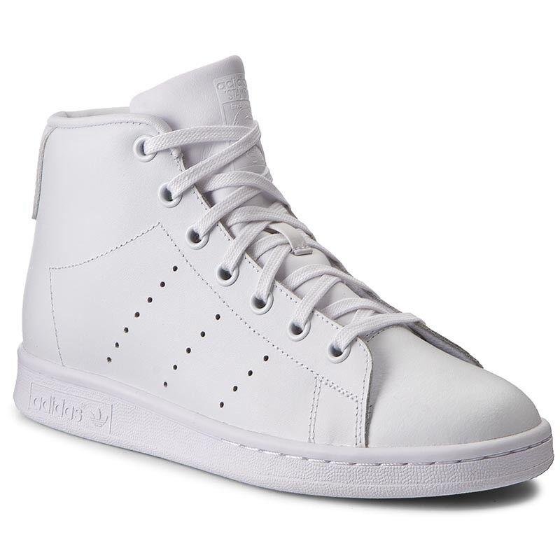 Adidas Stan Smith Mid J bz0098 Originals Femmes Enfants Baskets Sport Chaussures Blanc