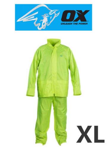 OX Rainsuit Waterproof Storm Jacket//Trousers Set Mens//Ladies 2 Piece Suit M-XXL