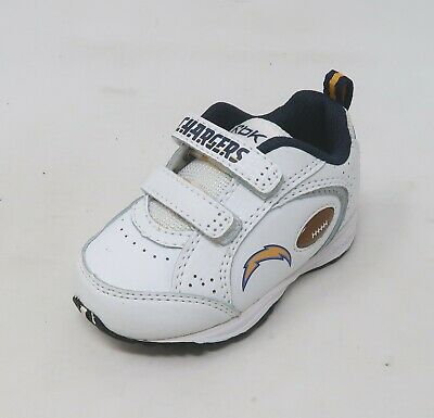 6f30de8e Reebok Baby Shoes White Training NFL Chargers Toddler Sneakers #2799 ...