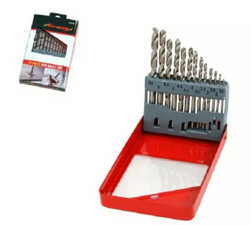 13pc Hss Drill Bit Set 1.5-6.5 mm Métal Bois Plastique Neilsen CT3299
