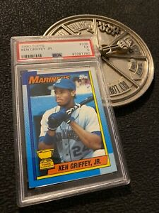 Ken Griffey Jr. Rookie PSA 5 Card Topps 1990 EX #336 Seattle Mariners Junior NR