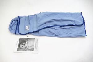Pacco-Pucksack-Swaddle-Decke-fuer-Babys-von-4-bis-7-kg-Medium-Blau