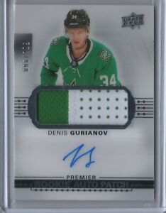 2017-18-Upper-Deck-Premier-Denis-Gurianov-Stars-Acetate-Rookie-Auto-Patch-299