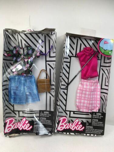 Barbie Career Fashion Pack Golfing Outfit Denim Shorts /& Flower Blouse.