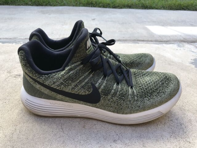 half off 98786 23d97 Mens Nike Lunarepic Low Flyknit 2 Shoes Rough Green/Black/Palm Green - Sz  10.5