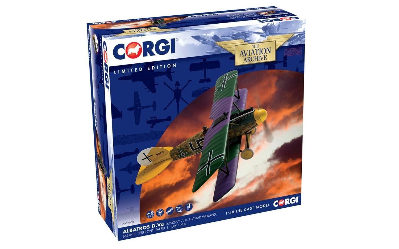 Corgi AA37808, Albatros D. Va D.7327 17, el teniente Lothar Weiland, jasta 5, seefrontsta