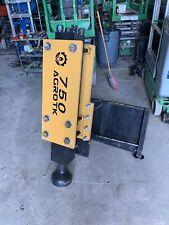 2021 Agrotk 750 Hydraulic Post Driver Hammer Pounder Skid Steer Universal New