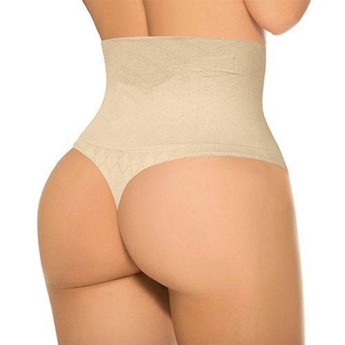 Indétectable Taille Haute String Tummy Control Shaper sous-vêtements Shapewear G cordes