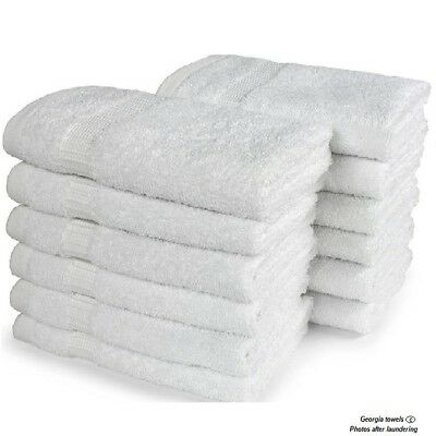 6 new economy bath towels utility grade 22x44 100/% cotton home collection