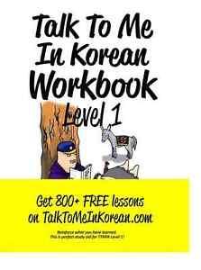 Talk To Me In Korean Workbook Level 1 Learn Korean Ebay