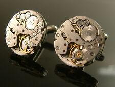 Boutons manchettes mouvement de montre vintage - diamètre 20 mm