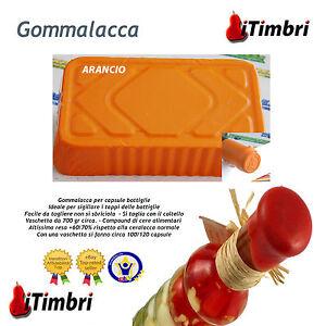 Gommalacca per capsule bottiglie colore Arancio Ceralacca soft non si sbriciola