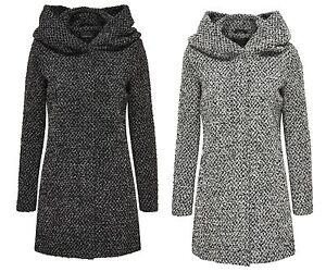 only damen wollmantel jacke indie sedona long wool coat parka bergang winter ebay. Black Bedroom Furniture Sets. Home Design Ideas
