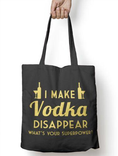 Make Vodka Disappear Funny Tote Bag For Life Ale Drunk Shopper Dad Shopping E38