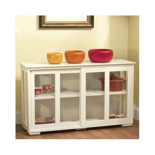 Antique Stackable Cabinet White Kitchen Dining Storage Hutch China