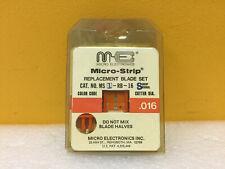 NEW Micro Electronics Micro-Strip MS1-RB-16S Replacement Blade Set .016 NIP